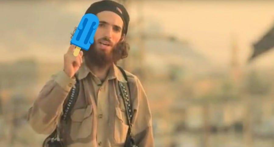 Meme de yihadista con paleta