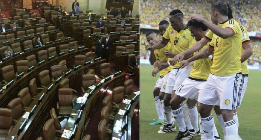 Senado no sesionará en partido de Colombia