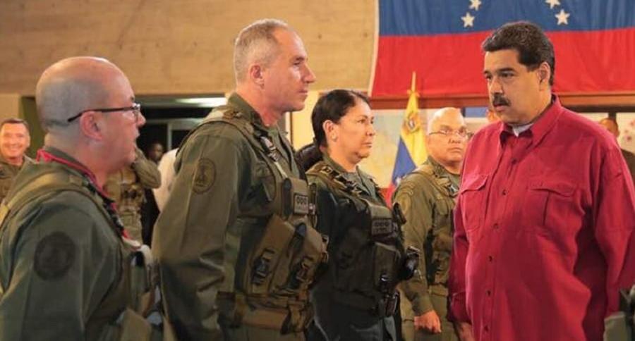 El dictador Maduro y su alto mando