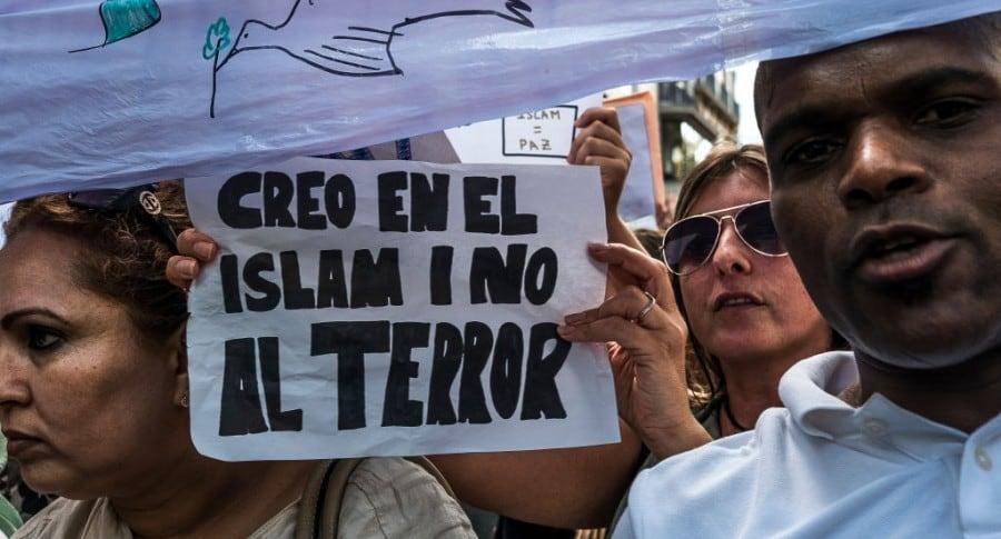 Manifestación contra terrorismo islámico