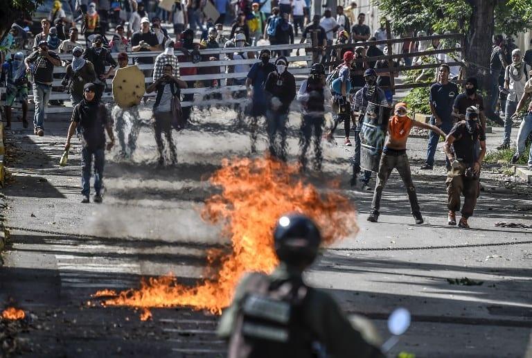 Protesta en Venezuela.