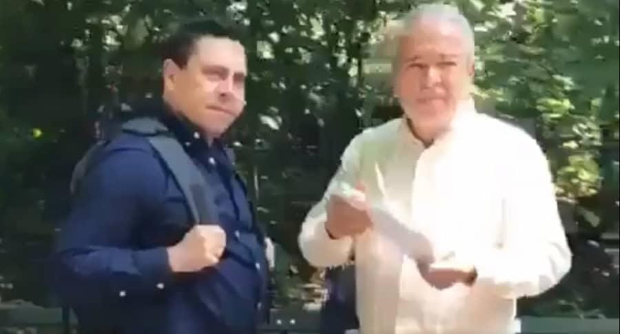 Samuel Moncada y Jorge Arreaza