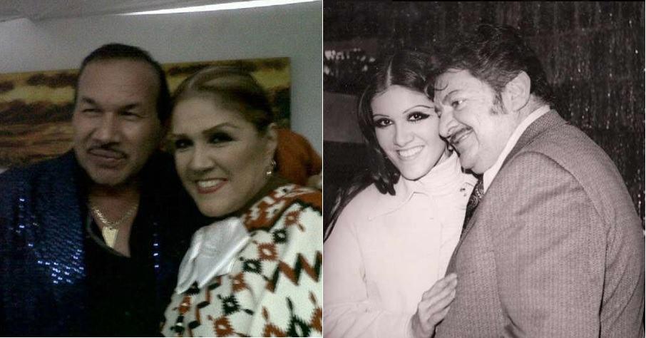 La cantante Alicia Juárez (Q.E.P.D.) junto a 'el Charrito negro', artista colombiano; y su fallecido esposo, el cantante José Alfredo Jiménez.