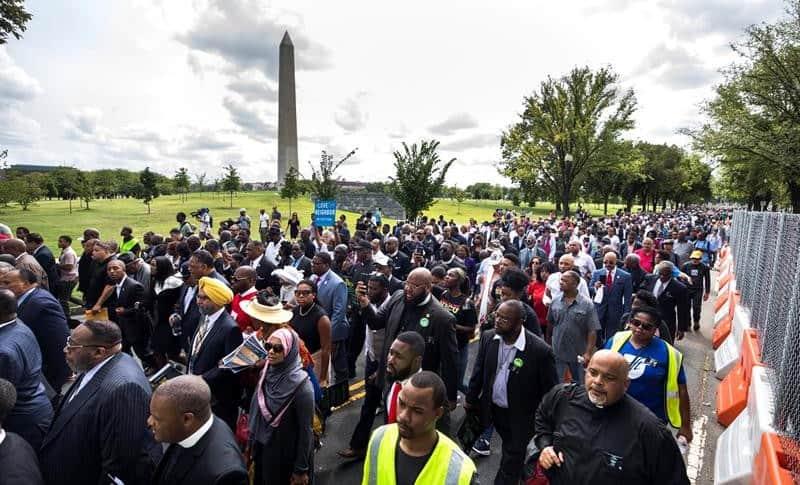 Marcha de religiosos en Washington