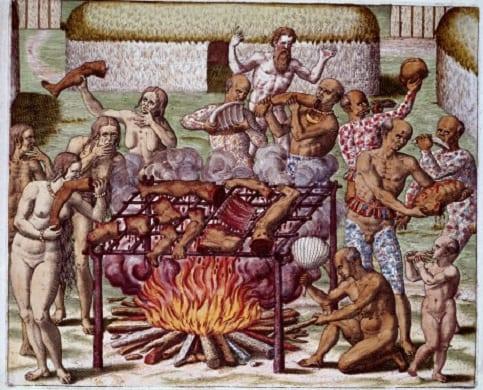 Escena de canibalismo