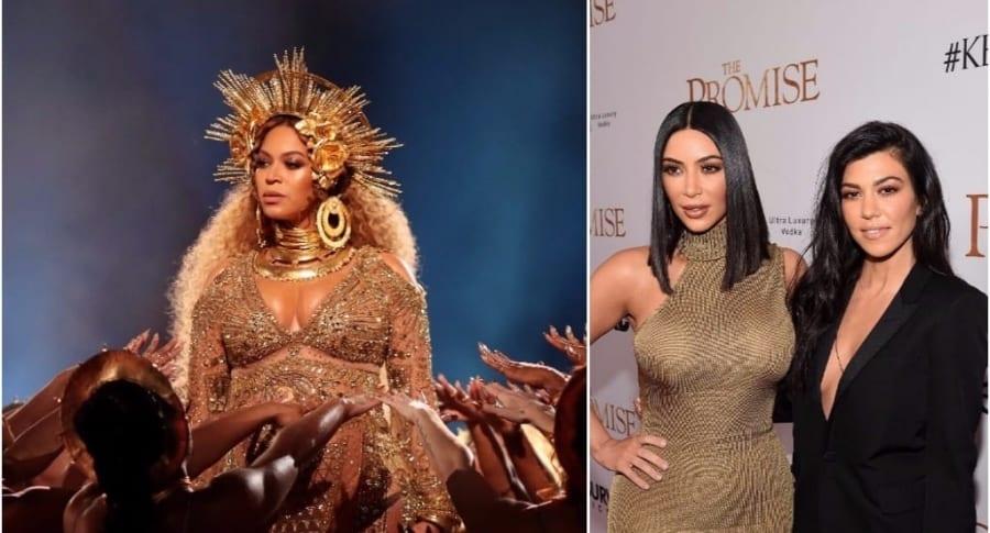 Beyoncé / Kim y Kourtney Kardashian