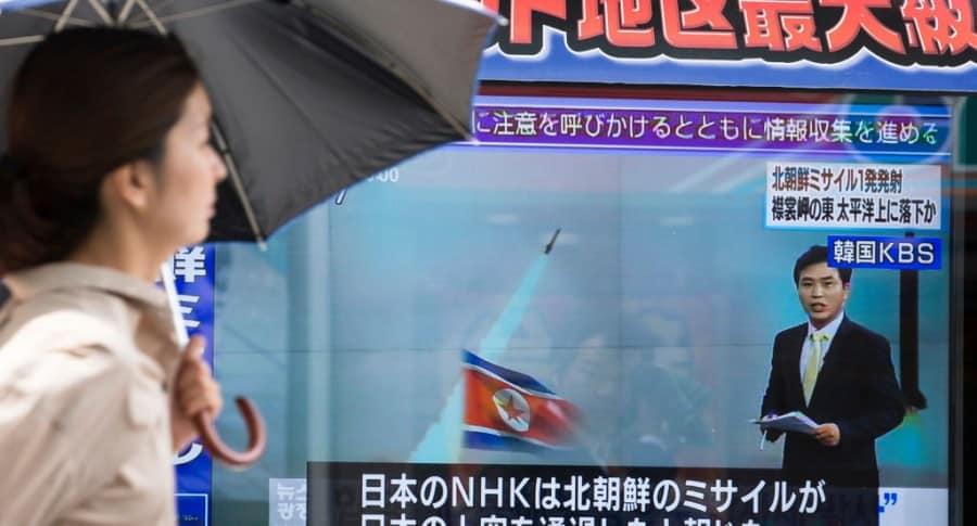 Reacción de Japón a misil de Corea del Norte
