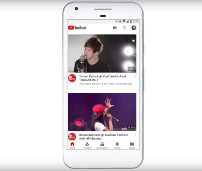 Nueva interfaz YouTube