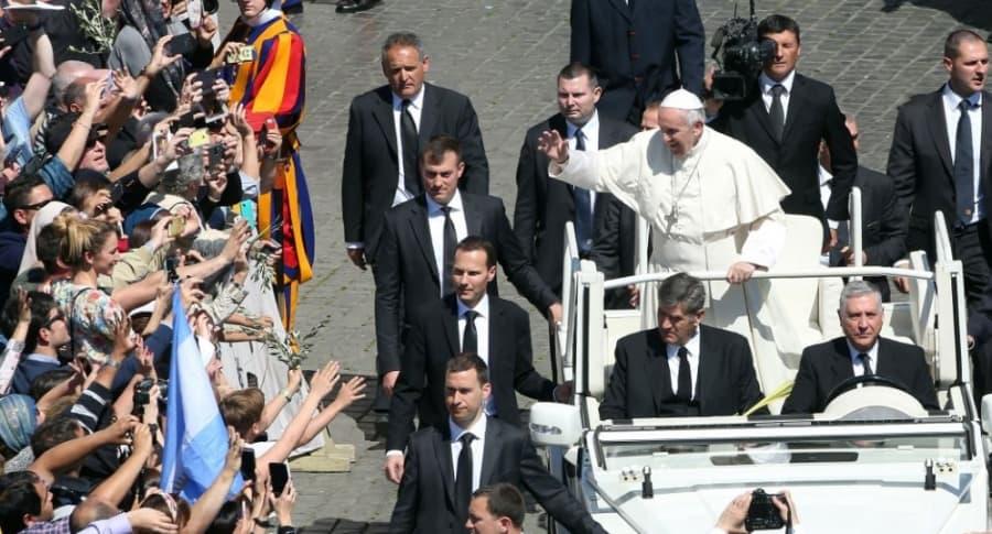Seguridad del papa en Colombia