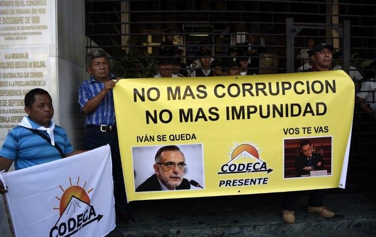 Manifestación contra expulsión de Iván Velásquez