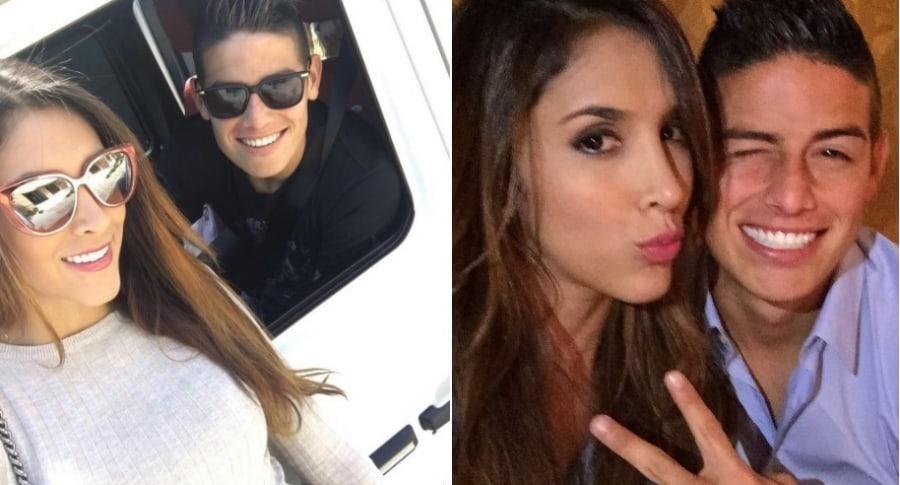 Daniela Ospina, modelo y empresaria, y su exesposo James Rodríguez, futbolista.