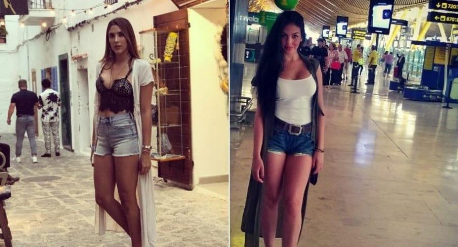 Daniela Ospina, modelo y empresaria, y Georgina Rodríguez, novia de Cristiano Ronaldo.
