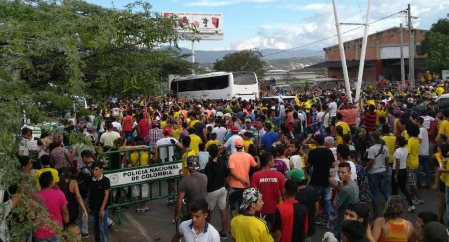 Bus de Selección Colombia en Cúcuta