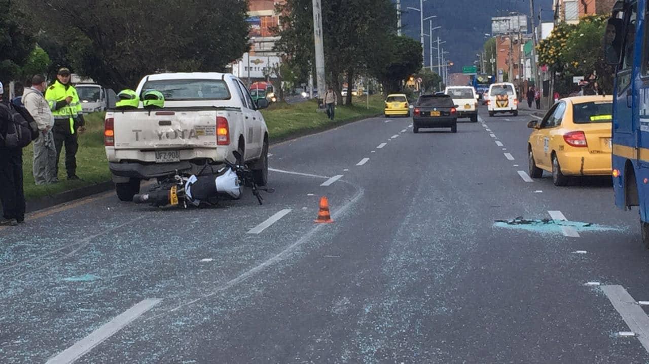 Accidente norte de Bogotá