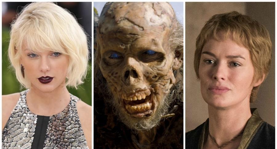Taylor Swift, un 'wight' de 'Game of Thrones', y Cersei Lannister. Pulzo.