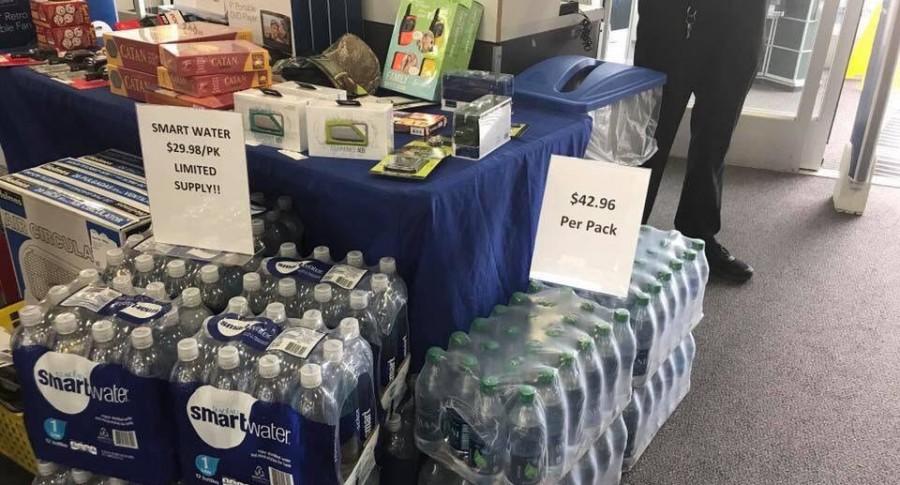 Venta de agua en Best Buy
