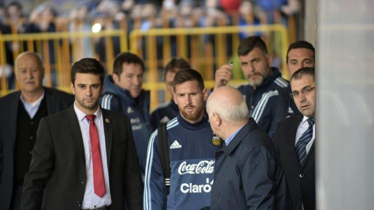 Lionel Messi en Montevideo, Uruguay. Pulzo.