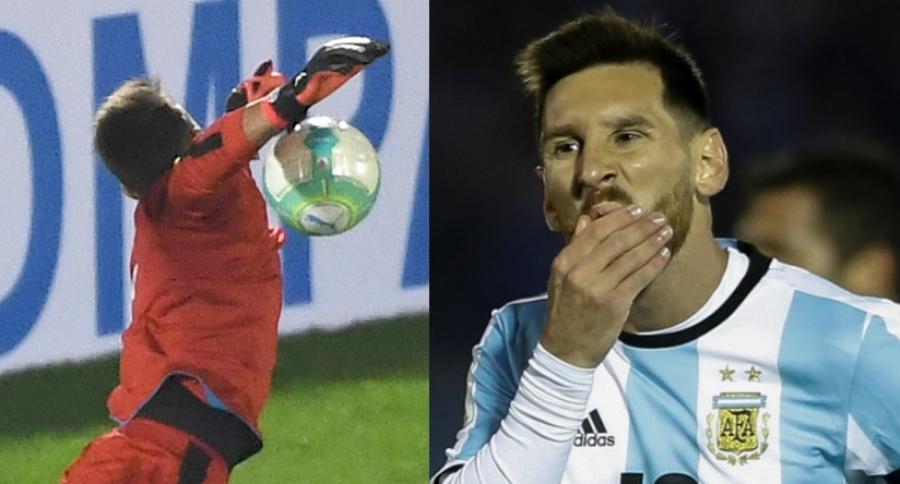 Muslera y Messi
