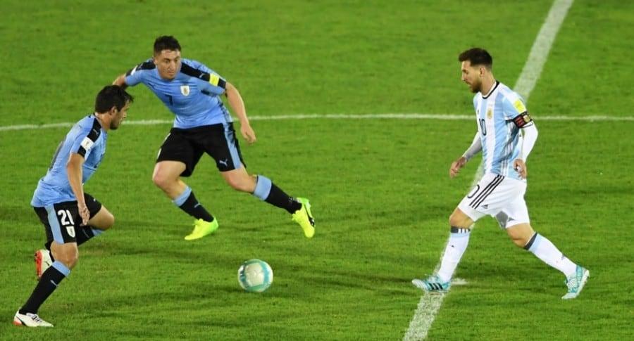 Messi en Uruguay vs. Argentina