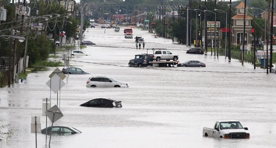 Inundación por huracán Harvey en Houston, Texas (EE. UU.). Pulzo.