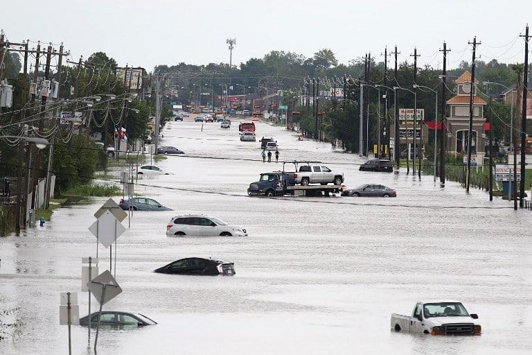 Inundación por huracán Harvey en Houston, Texas