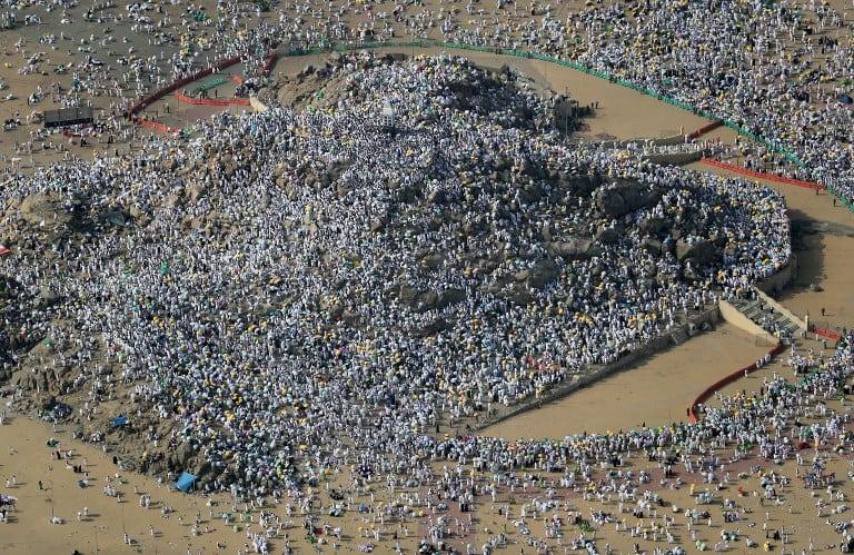 Musulmanes congregados en La Meca. Pulzo.