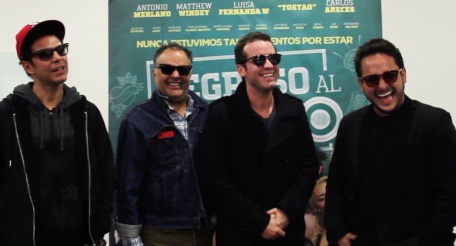 'el gato' Baptista, Beto Arango, Antonio Merlano y Matthew Windey