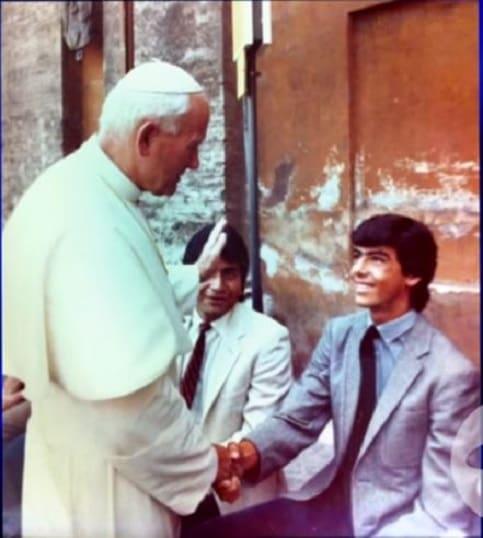 Humberto 'el Gato' Rodríguez, y el papa Juan Pablo II (Q.E.P.D.)