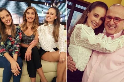 La presentadora Milena López, y sus compañeros de 'Muy buenos días' Jota Mario Valencia, Laura Acuña y Adriana Betancur.