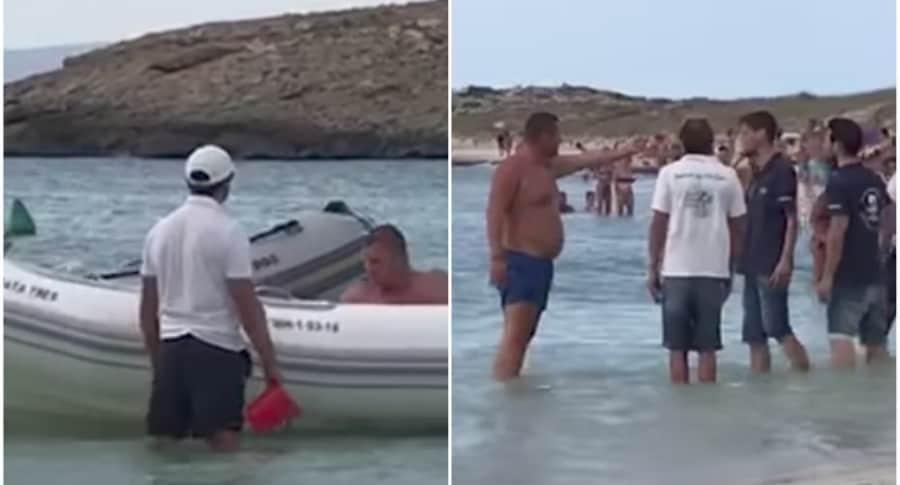 Turista en isla de España.