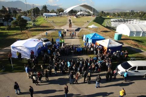 Adecuaciones en el Parque Simón Bolívar de Bogotá por visita del papa