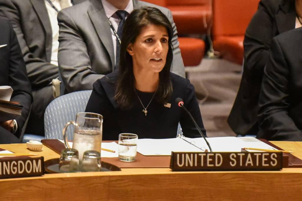 Nikki Haley en las Naciones Unidas