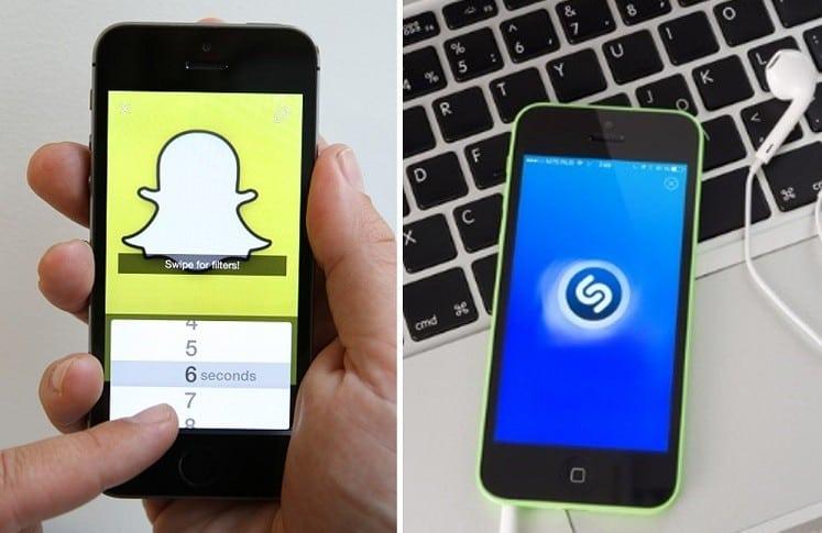 Snapchat y Shazam