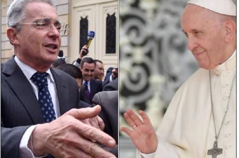 Álvaro Uribe y el papa Francisco