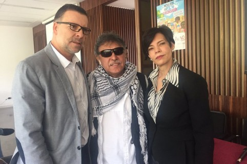 Freddy Rendón Herrera, Jesús Santrich, Bertha Fríes.