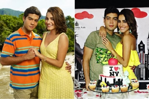 Jerónimo Cantillo y su novia Vivian Ossa, actores de 'Los Morales'.1