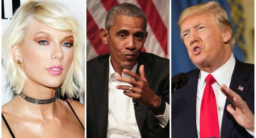 Taylor Swift, Barack Obama y Donald Trump. Pulzo.