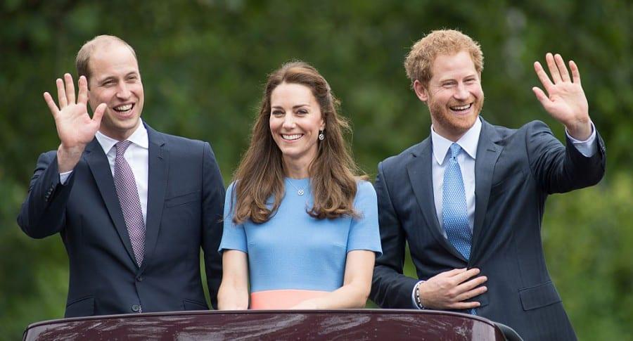 Príncipe William, Kate Middleton y príncipe Harry