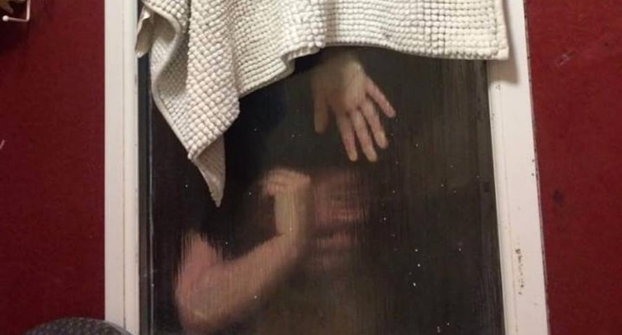 Mujer atrapada