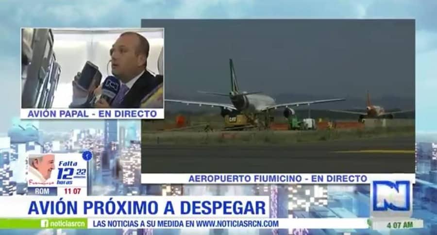 Andrés Gil, en avión papal