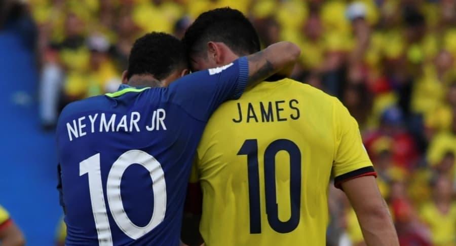 James y Neymar