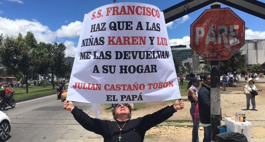 Julián Arturo Castaño Tobón, seguidor del papa.