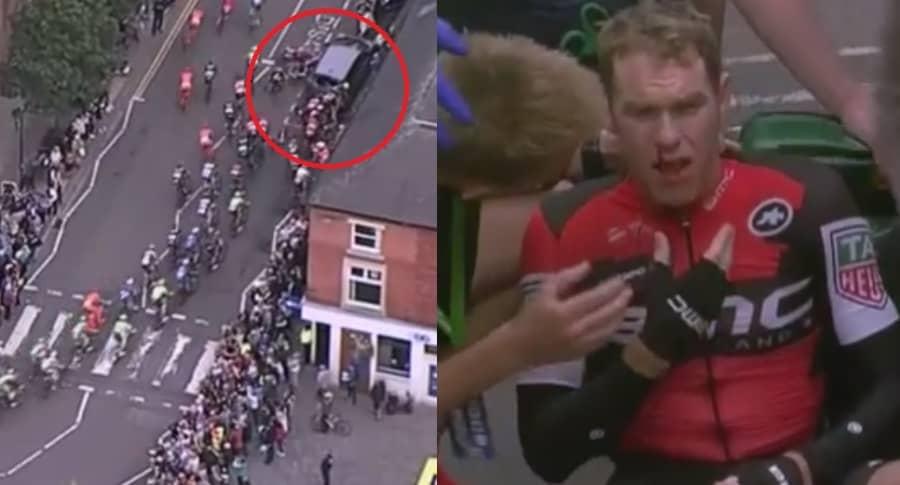 Accidente en Tour de Gran Bretaña