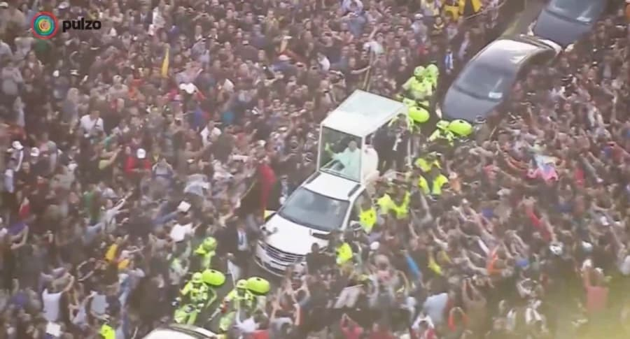 Bloqueo caravana papal