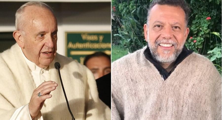 El papa Francisco y el padre Alberto Linero.