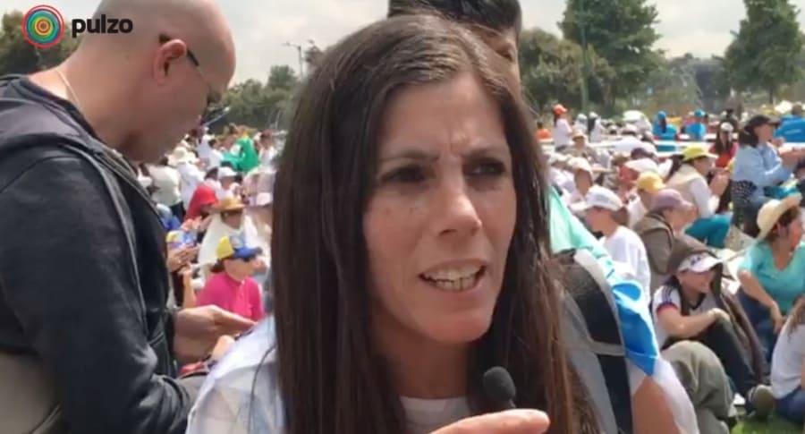Argentina visita al papa en Bogotá.