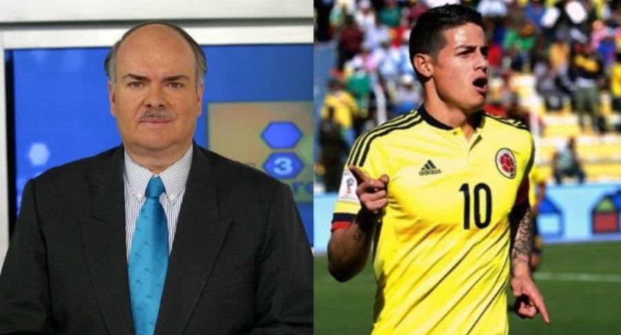 Iván Mejía y James Rodríguez