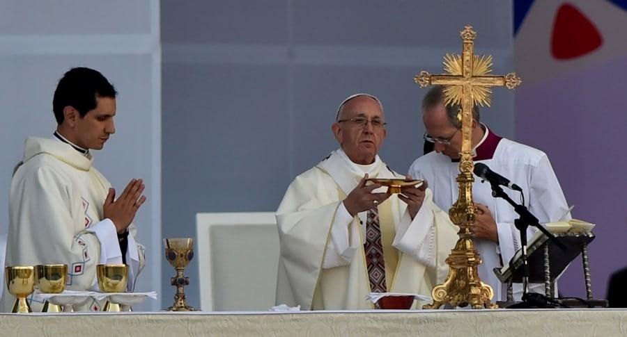 Misa del papa en Bogotá
