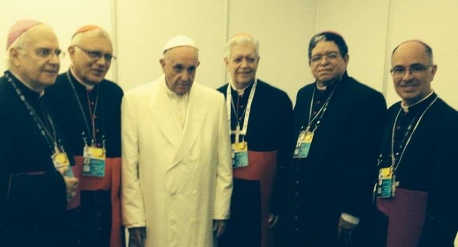 Obispos venezolanos con papa Francisco