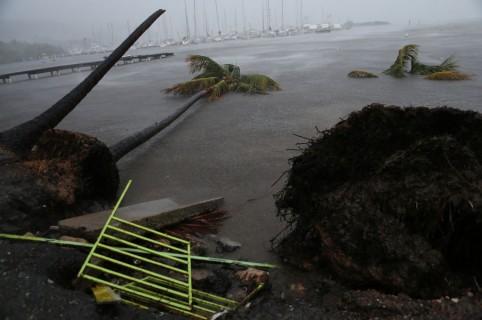 Huracán Irma a su paso por Puerto Rico